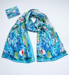 Monet or Van Gogh Silk Scarf and Notecards