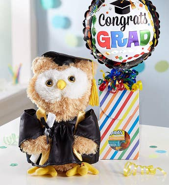Animated Graduation Celebration Owl and Candy