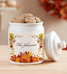 Personalized Fall Harvest Cookie Jar & Cheryl's Cookies