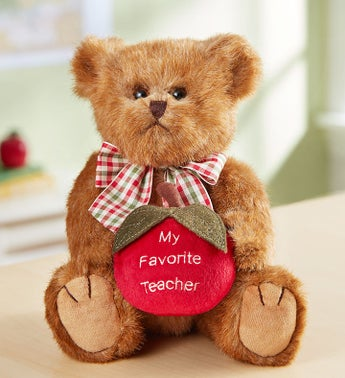 Bearington Teacher Bear With Cookies