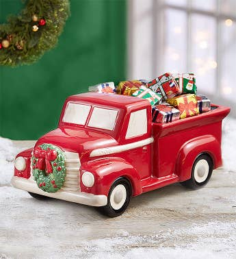 Vintage Truck with Chocolate Presents