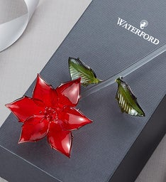Waterford® Glass Poinsettia