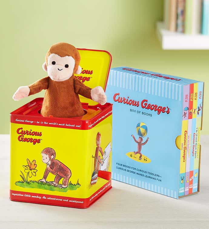 Curious George Jack in the Box & Story Book Collection
