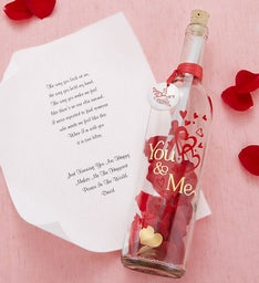 Message In A Bottle® 'You & Me' With Chocolate