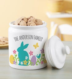 Personalized Easter Cookie Jar & Cheryl's® Cookies