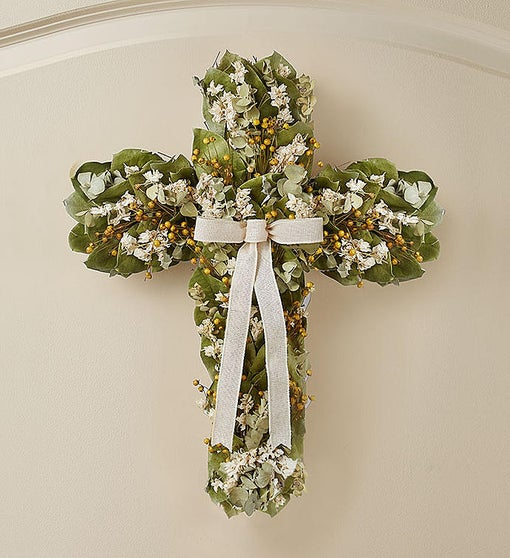 Preserved Cross Wreath