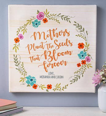 "Personalized ""Seeds That Grow"" Canvas"