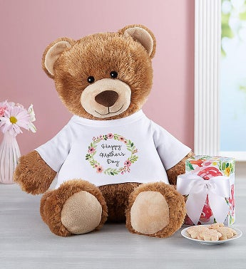 Personalized Tommy Teddy™ for Mother's Day with Cookies