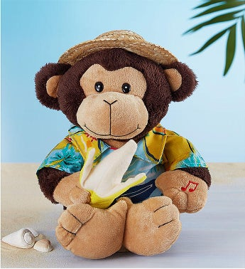 Animated Monkey Plush 'Banana Boat Bruno'