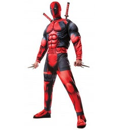 Deluxe Muscle Chest Adult Deadpool Costume