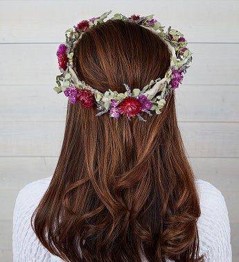 Preserved Floral Crown - Lavender