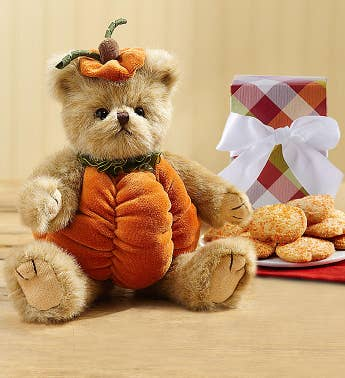 Bearington Fall Pumpkin Bear with Cookies