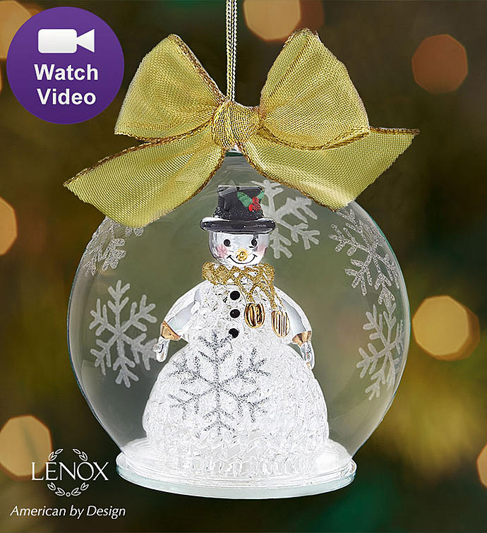 Lenox® Color Changing Snowman Ornament