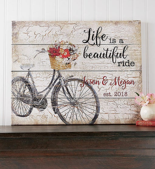 Personalized 'Life Is A Beautiful Ride' Canvas