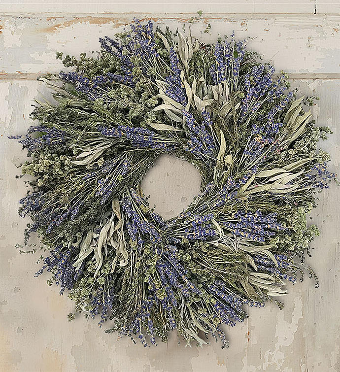 Preserved Lavender Wreath-16""