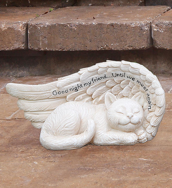 Cat in Wing Statue