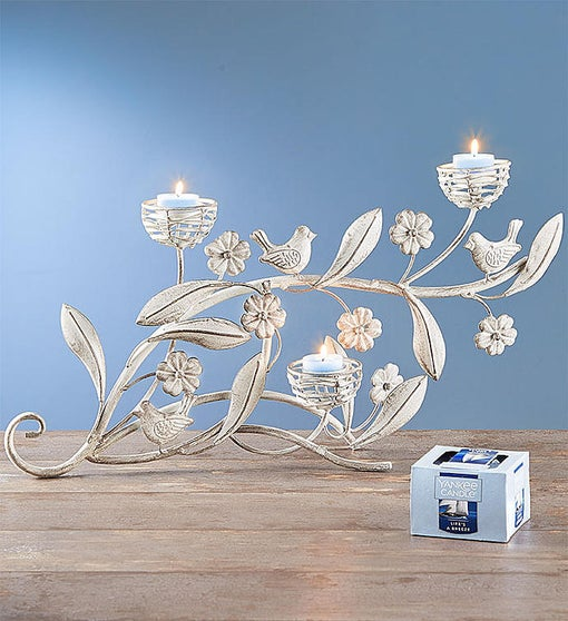 Breezy Bird Candelabra & Yankee Candle® Tealights