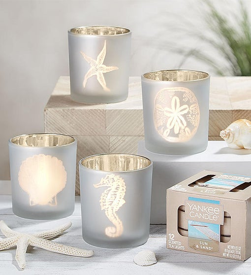 Beach Tealight Holders & Yankee Candle® Tealights