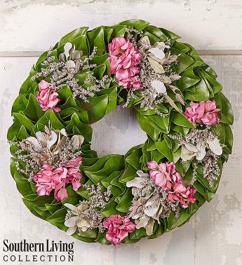 Southern Living Hydrangea Magnolia Wreath 18 From 1 800 Flowerscom