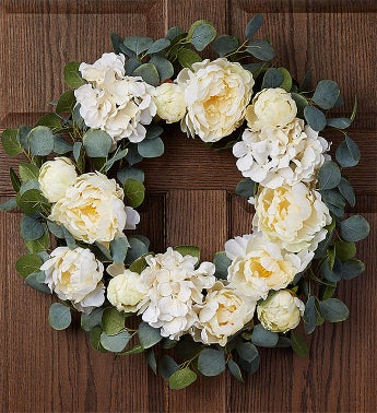 Keepsake Serene White Hydrangea Wreath-24