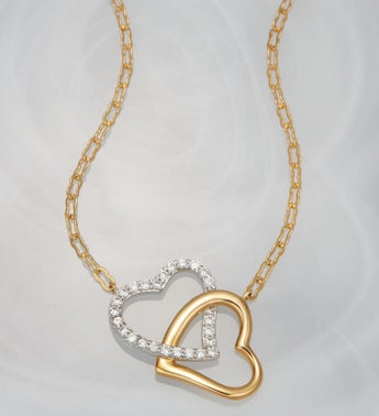 Crislu® Double Heart Necklace