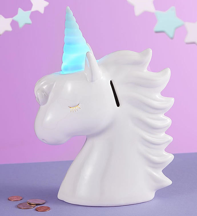 Baby Unicorn Bank Gift Set
