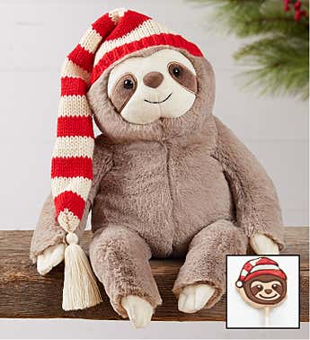 Joyful Christmas Sloth by Gund ® with Krispy