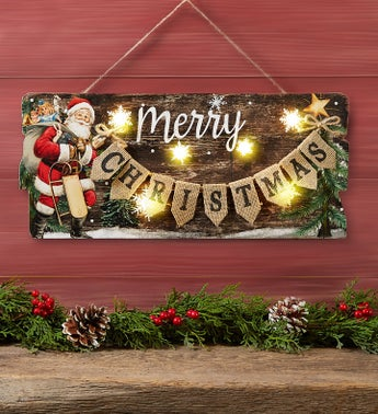 Merry Christmas LED Wall Décor