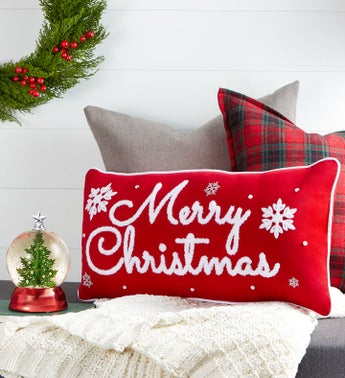 Merry Christmas Pillow Gift Set