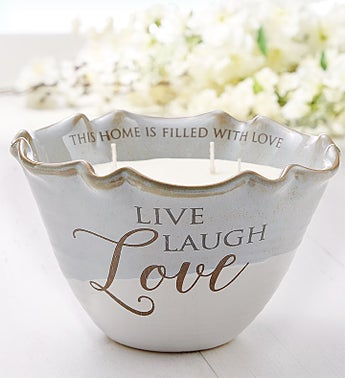 Live, Love, Laugh Tranquility Candle