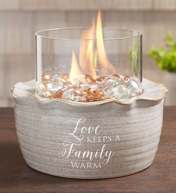 Love Keeps a Family Warm Fire Pot