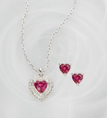 Swarovski® Pink Heart Set