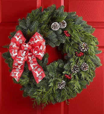 "Festive Holiday Wreath- 20""-22"""