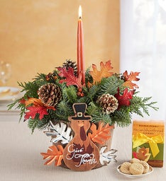 Give Thanks Evergreen Centerpiece
