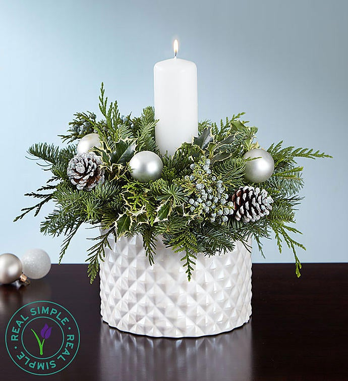 Winter White Centerpiece by Real Simple®