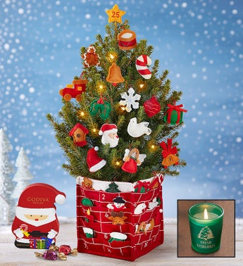 Countdown to Christmas Tree + Free Candle