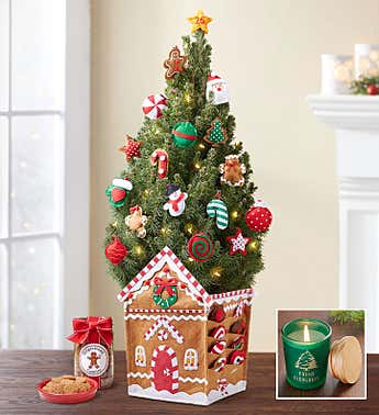Gingerbread House Countdown Tree + Free Candle