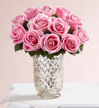 Charming Pink Roses + Free Shipping