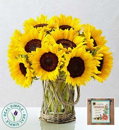 Sunflowers by Real Simple® + Free Banner