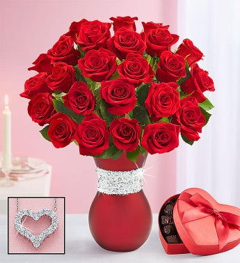 Romantic Sparkle Red Roses