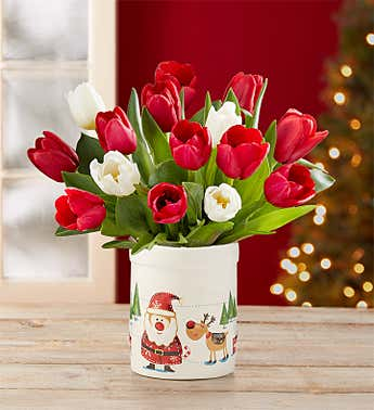 Merry & Bright Tulip Bouquet