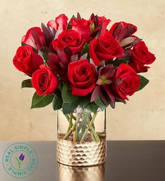Crimson Rose Valentineu0027s Day Bouquet By Real Simple®