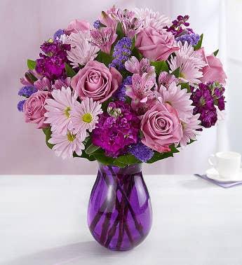 Purple flowers purple flower arrangements bouquets 1800flowers lavender dreams mightylinksfo