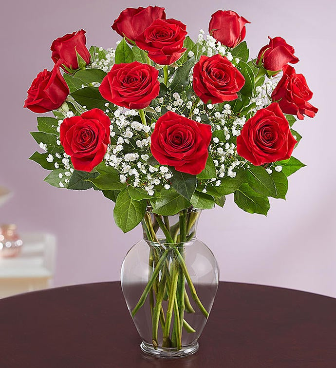 12-Count Rose Elegance Premium Long Stem Red Roses