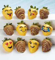 Emoticon Chocolate Covered Strawberries