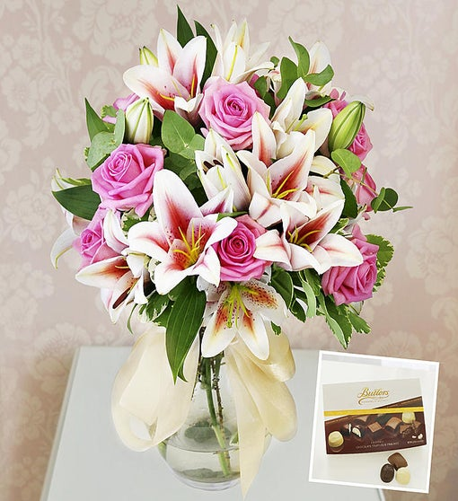 Luxury Roses & Lilies + Chocolates