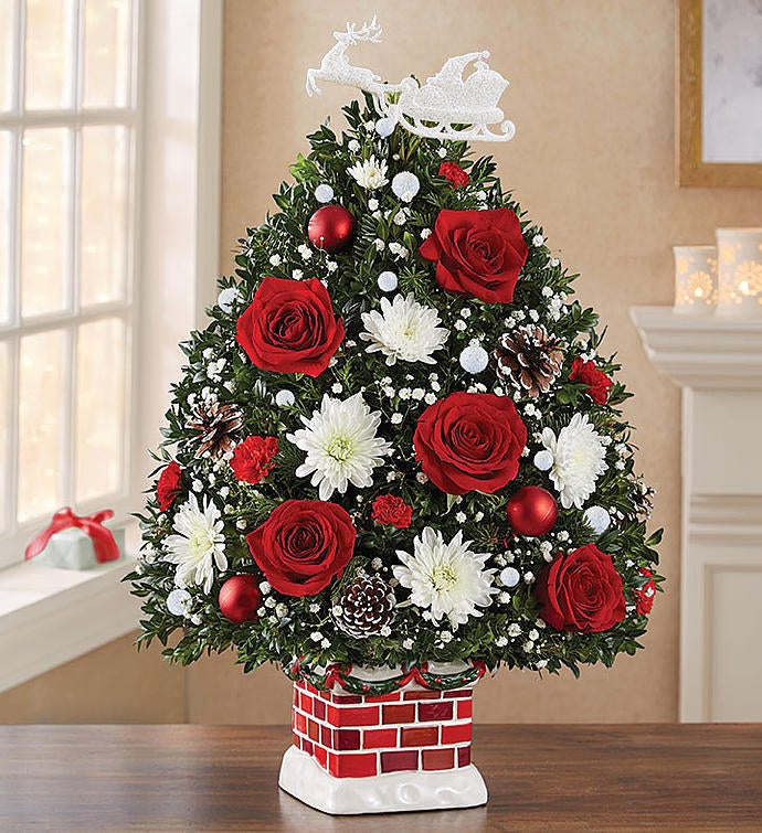 The Night Before Christmas Holiday Flower Tree