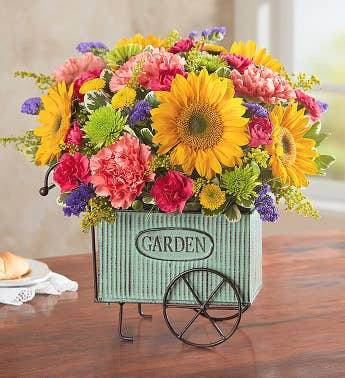 Flower arrangements floral arrangements delivery 1800flowers european garden cart mightylinksfo