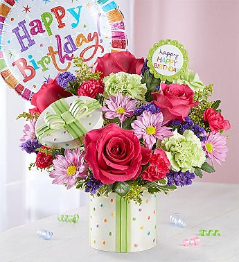 Happy Birthday Present Bouquet