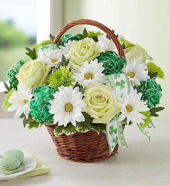 St Patricks Day Flower Basket